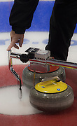 """Glasgow. SCOTLAND. Procession measuring the position of the """"Stones"""" at the Le Gruyère European Curling Championships. 2016 Venue, Braehead  Scotland<br /> Sunday  20/11/2016<br /> <br /> [Mandatory Credit; Peter Spurrier/Intersport-images]"""