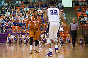 FORT WORTH, TX - JANUARY 19: Isaiah Taylor #1 of the Texas Longhorns defends against Trey Zeigler #32 of the TCU Horned Frogs on January 19, 2015 at Wilkerson-Greines AC in Fort Worth, Texas.  (Photo by Cooper Neill/Getty Images) *** Local Caption *** Isaiah Taylor