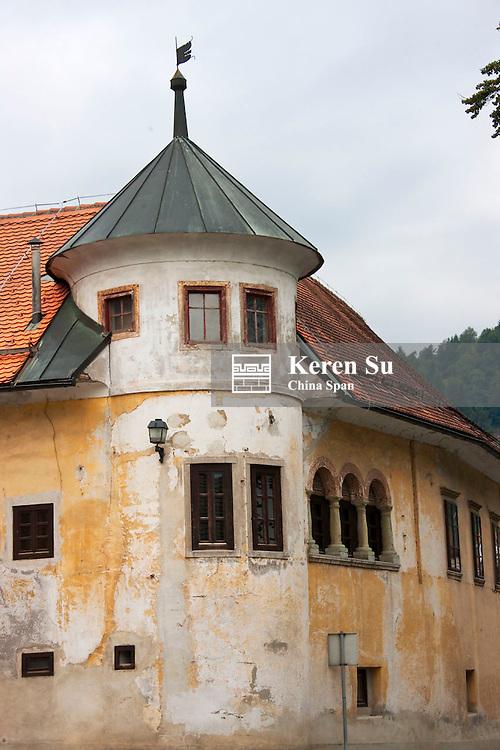 Old house,  Skofja Loka, a thousand-year-old medieval city, Slovenia