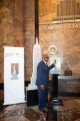 April 27, 2018 - New York, New York, U.S - Actor FOREST WHITAKER lights the Empire State Building in honor of the Education Above All Foundation on April 27, 2018 in New York. (Credit Image: © Bryan Smith via ZUMA Wire)
