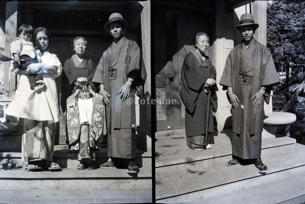 family portrait Japan ca 1940s