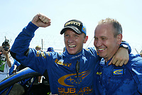 AUTO - WRC 2003 - CYPRUS RALLY -  20030622 - PHOTO : FRANCOIS BAUDIN /DIGTIALSPORT<br />PETTER SOLBERG (NOR) / SUBARU IMPREZA WRC - AMBIANCE - PORTRAIT
