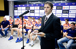 Gregor Humerca at press conference of volleyball club ACH Volley before new season 2009/2010,  on September 28, 2009, in Ljubljana, Slovenia.  (Photo by Vid Ponikvar / Sportida)