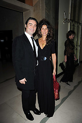 Actor NATHANIEL PARKER and his wife ANNA PATRICK at the Cartier Racing Awards 2009 held at Claridge's, Brook Street, London on 17th November 2009.