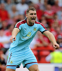 Burnley's Sam Vokes during the pre-season match at The City Ground, Nottingham.
