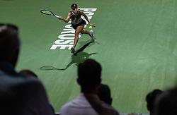 PORTOROZ, SLOVENIA - SEPTEMBER 17:   Kaja Juvan of Slovenia playing against Tamara Zidansek of Slovenia at quarterfinal match of the WTA 250 Zavarovalnica Sava Portoroz at SRC Marina, on September 17, 2021 in Portoroz / Portorose, Slovenia. Photo by Vid Ponikvar / Sportida