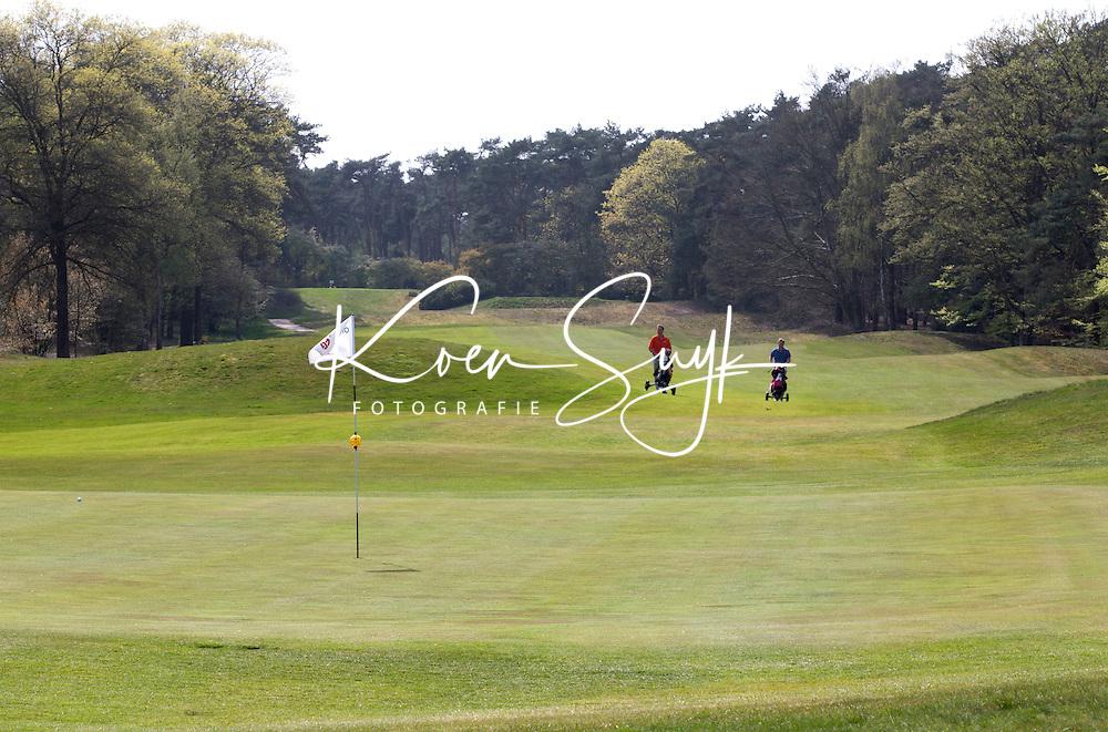 VALKENSWAARD - Hole 18 met clubhuis  Eindhovensche Golf Club uit 1930. COPYRIGHT KOEN SUYK