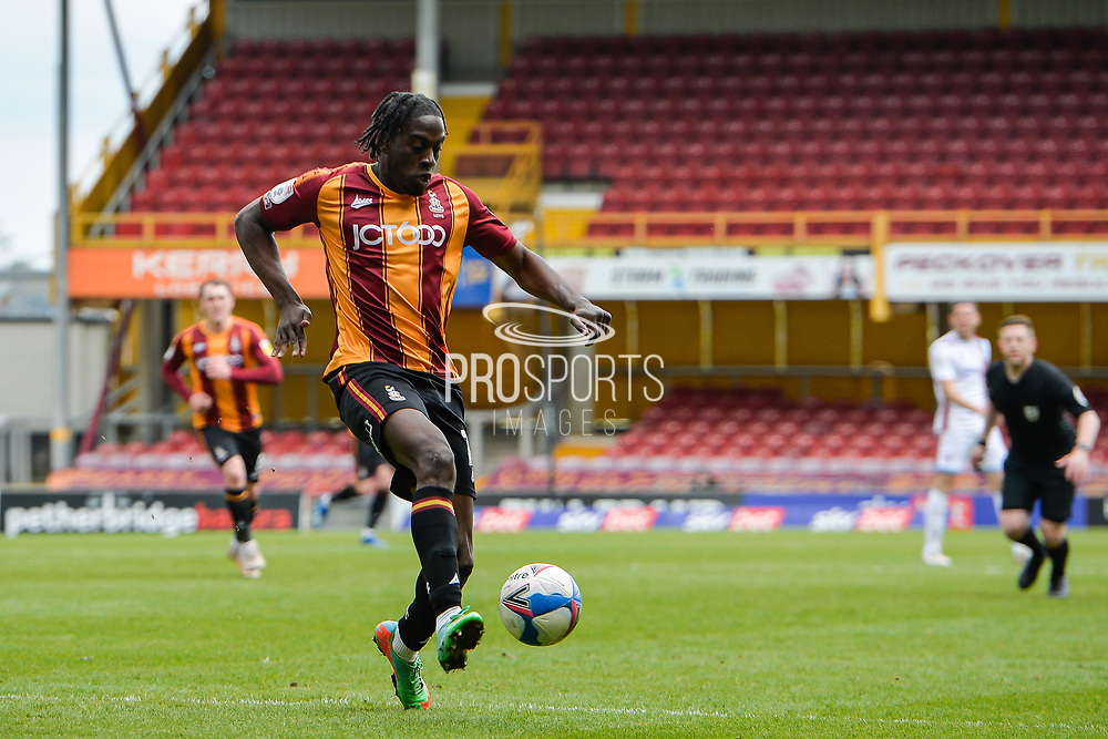 Clayton Donaldson during the EFL Sky Bet League 2 match between Bradford City and Scunthorpe United at the Utilita Energy Stadium, Bradford, England on 1 May 2021.