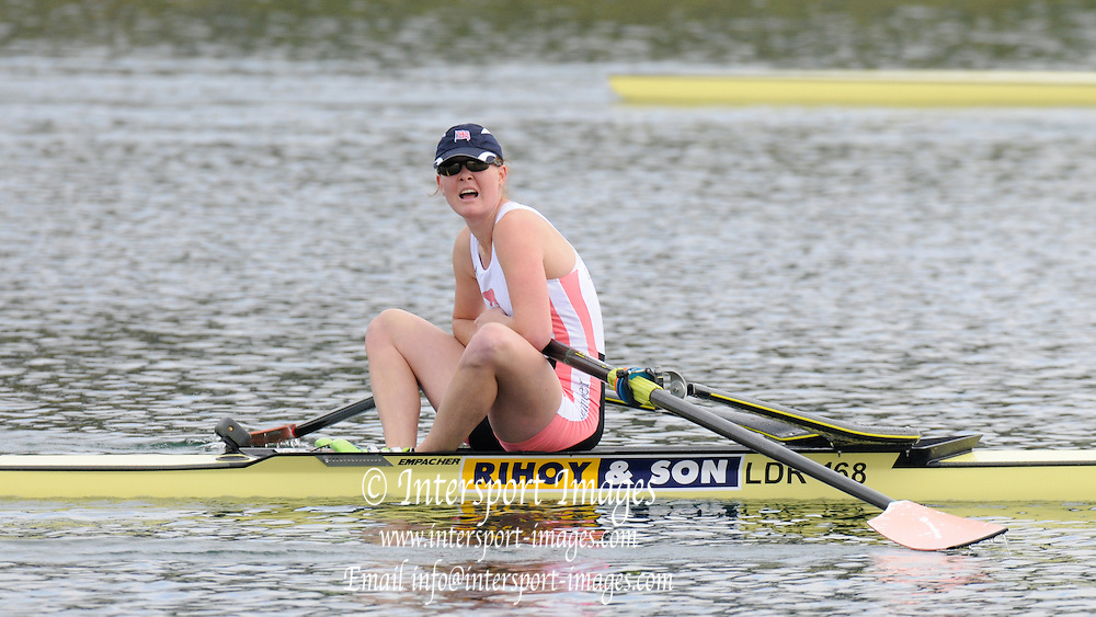 Eton, United Kingdom.    GBR  W1X, Erica BODMAN after the B Final Women's single Sculls at the 2012 GB Rowing Trials, Dorney Lake. Near Windsor Berks Sunday  11/03/2012  [Mandatory Credit; Peter Spurrier/Intersport-images]