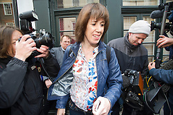 © London News Pictures. 13/05/2013. London, UK.  Carina Trimingham, the partner of disgraced former MP Chris Huhne leaving her London home on the day Chris Huhne and his ex-wife Vicky Pryce were released from prison having served part of their jail terms for perverting the course of justice. Photo credit: Ben Cawthra/LNP
