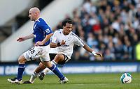 Photo: Steve Bond.<br /> Derby County v Everton. The FA Barclays Premiership. 28/10/2007. Giles Barnes (R) turns the ball past Lee Carsley (L)