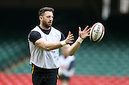 Alex Cuthbert of Wales in action during the Wales Rugby captains run, ahead of tomorrows RBS Six nations match against England. Principality Stadium, Cardiff, South Wales on Friday 10th Feb 2017.   pic by  Andrew Orchard, Andrew Orchard sports photography.