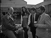 Frank Stapleton Testimonial.   (R77)..1988..25.04.1988..04.25.1988..25th April 1988..Today at the Guinness Reception Centre details of the testimonial match for Frank Stapleton were announced. Frank ,one of Ireland's greatest players,played 71 times for Ireland scoring 20 goals. During his illustrious career frank played for Arsenal, Manchester United and Ajax of Amsterdam.