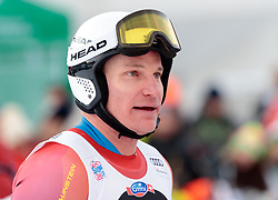 28.12.2017, Stelvio, Bormio, ITA, FIS Weltcup, Ski Alpin, Abfahrt, Herren, im Bild Christopher Hoerl (MDA) // Christopher Hoerl of Republic of Moldova reacts after his run of the men's downhill of FIS Ski Alpine World Cup at the Stelvio course, Bormio, Italy on 2017/12/28. EXPA Pictures © 2012, PhotoCredit: EXPA/ Johann Groder