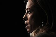 Giorgia Meloni durante la manifestazione organizzata dal Movimento Fratelli d'Italia Centrodestra nazionale all'interno del Palazzo dei Congressi. Roma, 26 gennaio 2013. Christian Mantuano /  Oneshot