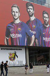 August 20, 2017 - Barcelona, Catalonia, Spain - Tribute from FC Barcelona to the victims of the Barcelona attacks before the match between FC Barcelona vs Real Betis Balompie, for the round 1 of the Liga Santander, played at Camp Nou Stadium on 20th August 2017 in Barcelona, Spain. (Credit Image: © Urbanandsport/NurPhoto via ZUMA Press)