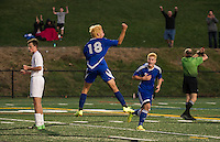 Alejandro Soberon Zertuche scores the first goal of the NHIAA Division III soccer against Hopkinton at LHS turf field Wednesday evening.  (Karen Bobotas/for the Laconia Daily Sun)