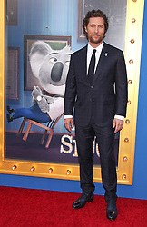 Matthew McConaughey, Universal Pictures film premiere for Sing at LA Live (Los Angeles, CA.)