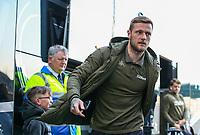 Leeds United's Liam Cooper steps off the coach at Deepdale<br /> <br /> Photographer Alex Dodd/CameraSport<br /> <br /> The EFL Sky Bet Championship - Preston North End v Leeds United -Tuesday 9th April 2019 - Deepdale Stadium - Preston<br /> <br /> World Copyright © 2019 CameraSport. All rights reserved. 43 Linden Ave. Countesthorpe. Leicester. England. LE8 5PG - Tel: +44 (0) 116 277 4147 - admin@camerasport.com - www.camerasport.com