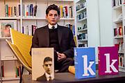 "Franz Kafka ""Doppelgänger"" Marek Lentvorsky (21) portrayed in the library of the Goethe Institut Prag."