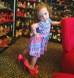 """Coco Austin releases a photo on Twitter with the following caption: """"""""Look who I found in my shoe closet last night....I caught her off guard and her first reaction was to start posing ..I just Cant with this child..<br /> #HandonHipPose<br /> #OverTheShoulder<br /> <br /> Follow all this cuteness- @BabyChanelworld"""""""". Photo Credit: Twitter *** No USA Distribution *** For Editorial Use Only *** Not to be Published in Books or Photo Books ***  Please note: Fees charged by the agency are for the agency's services only, and do not, nor are they intended to, convey to the user any ownership of Copyright or License in the material. The agency does not claim any ownership including but not limited to Copyright or License in the attached material. By publishing this material you expressly agree to indemnify and to hold the agency and its directors, shareholders and employees harmless from any loss, claims, damages, demands, expenses (including legal fees), or any causes of action or allegation against the agency arising out of or connected in any way with publication of the material."""