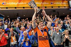 19-02-2017 NED: Bekerfinale Draisma Dynamo - Seesing Personeel Orion, Zwolle<br /> In een uitverkochte Landstede Topsporthal wint Orion met 3-1 de bekerfinale van Dynamo / Joris Marcelis #5 of Orion