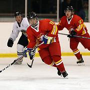Zhang Cheng, China, in action during the China V New Zealand match during the 2012 IIHF Ice Hockey World Championships Division 3 held at Dunedin Ice Stadium. Dunedin, Otago, New Zealand. 21st January 2012. Photo Tim Clayton