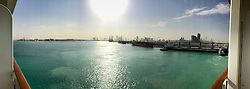 Images of the port at Abu Dhabi, U. Arab Emirates. MSC Fantasia cruise to Dubai, Abu Dhabi and Sir Bani Yas Island, U. Arab Emirates from Jan 21st to 28th 2017.
