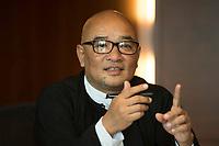 """19 JUN 2012, BERLIN/GERMANY:<br /> Maung Thura """"Zarganar"""",  Comedian, Komoediant, Film- und Fernsehschauspieler, Filmregisseur burmesischer Sprache und  Kritiker des Militaerregimes in Burma/Myanmar, waehrend einem Pressegespraech, Hotel Melia<br /> IMAGE: 20120619-01-031<br /> KEYWORDS Regimekritiker"""