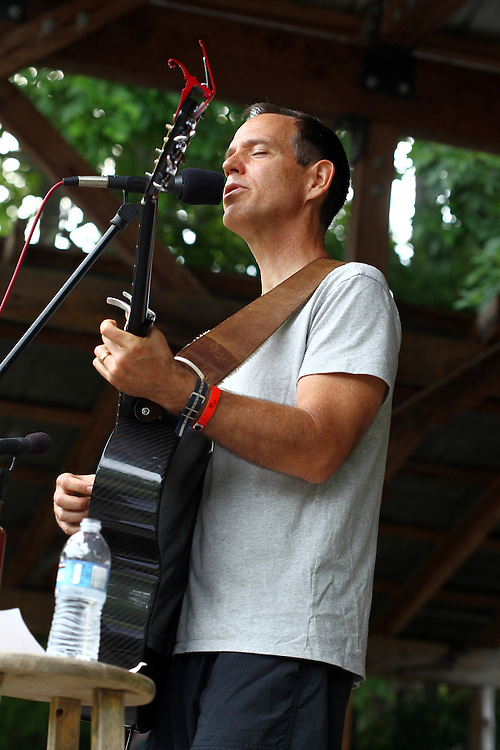 David Wilcox performs at the Wild Goose Festival at Shakori Hills in North Carolina June 24, 2011.  (Photo by Courtney Perry)
