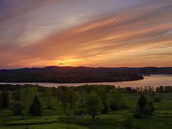 Canada, New Brunswick,  Kingston, St John River, Shampers Bluff