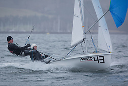 The annual RYA Youth National Championships is the UK's premier youth racing event. Day 3 with winds backing to the North the racing started on the Largs Channel.<br /> <br /> 56106, Niamh Harper, Ross Thompson, Loch Tummel SC + Royal Tay YC/ Frensham Pond SC, 420 Mixed <br /> <br /> Images: Marc Turner / RYA<br /> <br /> For further information contact:<br /> <br /> Richard Aspland, <br /> RYA Racing Communications Officer (on site)<br /> E: richard.aspland@rya.org.uk<br /> m: 07469 854599