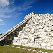 El Castillo (also known as Temple of Kuklcan) at the ancient Mayan ruins at Chichen Itza, Yucatan, Mexico 081216092714_1918x.tif