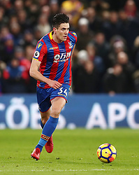 """Crystal Palace's Martin Kelly during the Premier League match at Selhurst Park, London. PRESS ASSOCIATION Photo. Picture date: Thursday December 28, 2017. See PA story SOCCER Palace. Photo credit should read: John Walton/PA Wire. RESTRICTIONS: EDITORIAL USE ONLY No use with unauthorised audio, video, data, fixture lists, club/league logos or """"live"""" services. Online in-match use limited to 75 images, no video emulation. No use in betting, games or single club/league/player publications."""