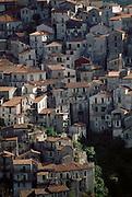 The hill town of Rivello, Basilicata, Italy.