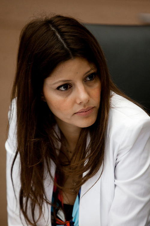 Israeli lawmaker, Knesset Member Orly Levy-Abekasis attends a session of the Labor, Welfare and Health Committee at the Knesset, Israel's parliament in Jerusalem, on June 19, 2012.