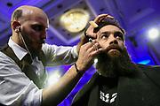 20170924/ Nicolas Celaya - adhocFOTOS/ URUGUAY/ MONTEVIDEO/ HOTEL RADISSON/ Barber Battle 2 en el Hotel Radisson. <br /> En la foto: Barber Battle 2 en el Hotel Radisson. Foto: Nicolás Celaya /adhocFOTOS