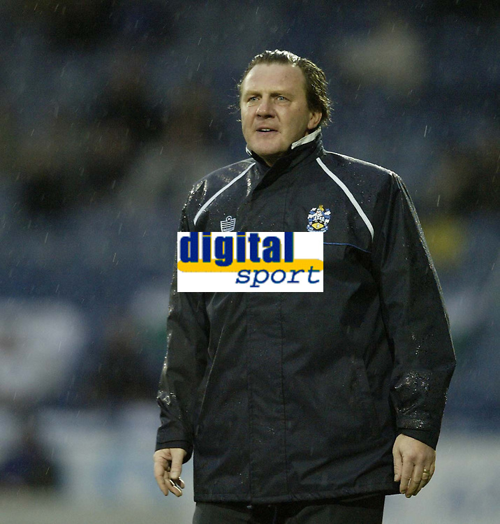 Photo: Aidan Ellis.<br /> Huddersfield Town v Swansea City. Coca Cola League 1. 30/12/2006.<br /> Huddersfield manager Peter Jackson shows his anger just before being sent to the stands