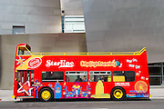 Starline Double Decker Tour Bus in Front of Disney Concert Hall