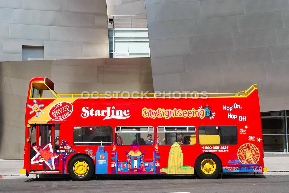 Starline Double Decker Tour Bus in Front of Disney Concert Hall