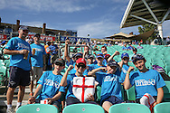 Young England fans with Cricket United t shirts during the 3rd day of the Investec Ashes Test match between England and Australia at the Oval, London, United Kingdom on 22 August 2015. Photo by Phil Duncan.