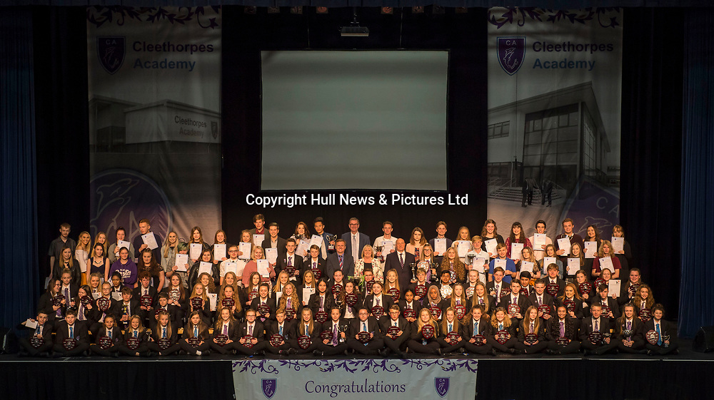 10 October 2017: Cleethorpes Academy Presentation Evening at Grimsby Auditorium. The guest speaker was Aled Jones MBE who presented the awards and also visited the Academy earlier in the day.<br /> Picture: Sean Spencer/Hull News & Pictures Ltd<br /> 01482 210267/07976 433960<br /> www.hullnews.co.uk         sean@hullnews.co.uk