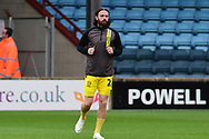 Burton Albion defender John Brayford as he warms up for the The FA Cup 1st round match between Scunthorpe United and Burton Albion at Glanford Park, Scunthorpe, England on 10 November 2018.