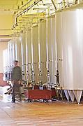 Fermentation tanks. Chateau Phelan-Segur, Saint Estephe, Medoc, Bordeaux, France