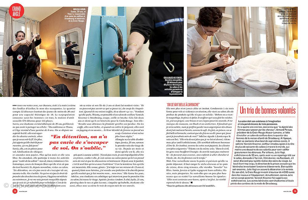 BE - 15 AVRIL 2011.Soins Esthetiques en Prison...