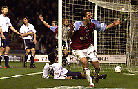Photo Aidan Ellis.<br />Burnley v Preston North End (Nationwide Div 1).<br />008/045/2003.<br />Burnley's Dimi Papadopoulos turns to celebrate his opening goal for Burnley