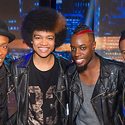 NLD/Hilversum/20130706 - Finale X-Factor 2013, Orpheus, Michael Blessed, Andy Brian, Steve City en Tevin Raynor