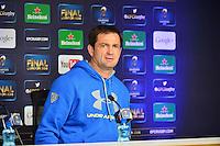Franck AZEMA - 01.05.2015 - Conference de presse Clermont avant la finale - European Rugby Champions Cup -Twickenham -Londres<br /> Photo : David Winter / Icon Sport