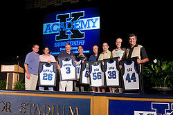 Coach K Academy draft night and team photos taken in Cameron Indoor Stadium on Wednesday night and Thursday morning June 4 and june 5 2008.