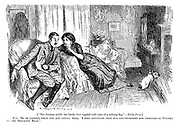 """[""""The German public has lately been regaled with tales of a talking dog. - Daily Press.] Wife. Do be careful what you are saying, dear. I feel convinced that our conversations are repeated by Pincher in the Servants' Hall."""""""